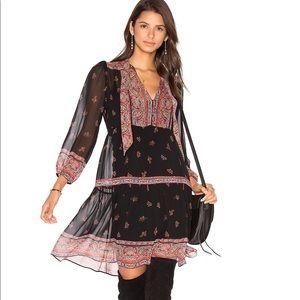 Joie Alpina Silk Dress in Caviar